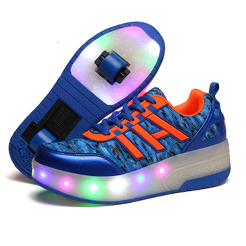 new wheel shoes with lights for boys led light up