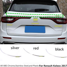 Hot sale For Renault Koleos 2017 car body style cover stainless steel Rear door upper tailgate frame plate trim lamp 1pcs/set