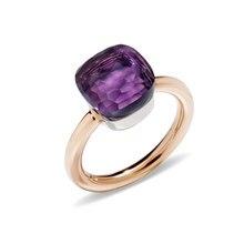 A maioria dos doces populares estilo anel 17 cores de cristal com 3 tipos de ouro cor chapeado anéis melhor presente para a festa de aniversário feminino anel
