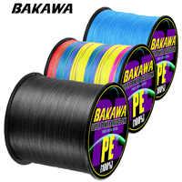 BAKAWA Brand 300M PE Braided Fishing Line 4 Strand 10-120LB Multifilament Fishing Line for Carp Fishing Wire for All Fishing
