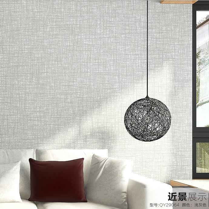3d part culas de lino papel pintado moderno papel tapiz de for Dormitorios pintados en gris