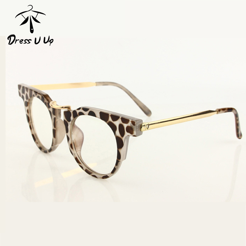 DRESSUUP Optical Eye Glasses Women Round Retro Glasses ...