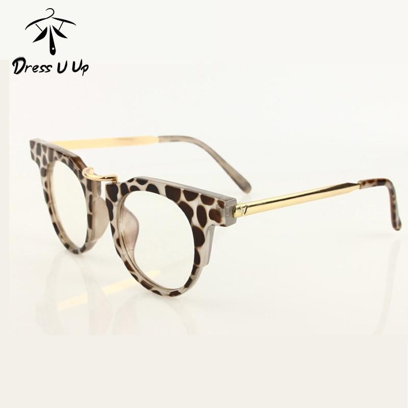 Frame Ups Eyeglasses : DRESSUUP Optical Eye Glasses Women Round Retro Glasses ...