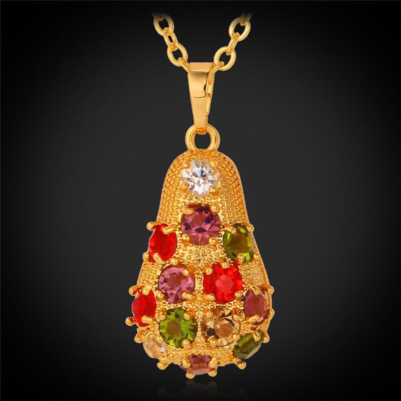 1b72e436c5d5 Collares y colgantes cristal austriaco joyería de moda nueva moda joyería  vintage oro color collar mujeres p1197