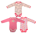 3 unids/lote infant clothing manga larga monos lindos del bebé muchacha del muchacho del algodón del mono recién nacido ropa de bebé traje ropa bebes 0-2y