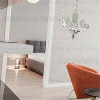 22 adet/takım Avize Desen 3D Akrilik Ayna Duvar Çıkartmaları Oda Ev Dekor Oturma Odası Yatak Odası Dekorasyon Duvar resmi R013