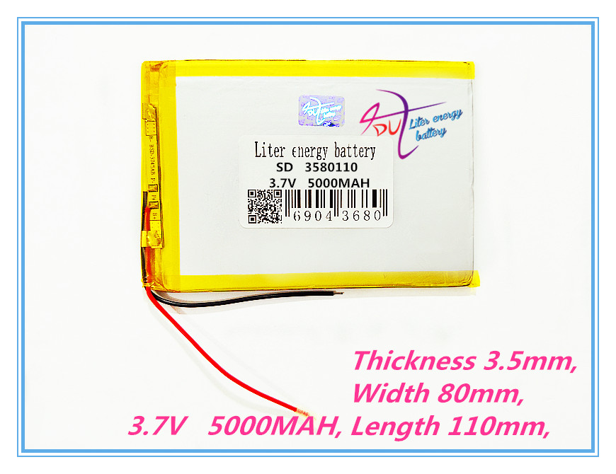 3580110 5000MAH lithium battery 3.7V The tablet battery 8 inches N83, N86 A86 A85, Rechargeable batte