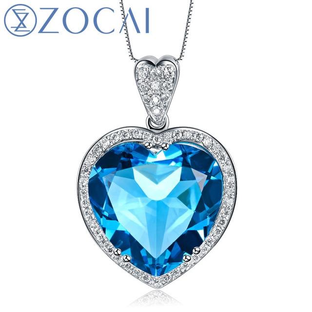 Zocai zodiac gem 70 ct topaz 021ct diamond 9k white gold blue zocai zodiac gem 70 ct topaz 021ct diamond 9k white gold blue heart pendant mozeypictures Image collections
