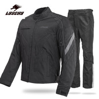Brand New LYSCHY Waterproof Black Reflect Racing Winter Jackets And Pants Motorcycle Waterproof Jackets Suits Trousers