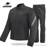 Marke Neue LYSCHY Wasserdicht Schwarz Spiegeln Racing Winter Jacken und Hosen Motorrad Wasserdichte Jacken Anzüge Hosen