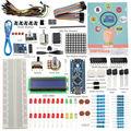 Nueva sunfounder 19 projecst súper starter kit v2.0 con mini usb v4.0 nano atmega328p 5 v micro-controlador para arduino