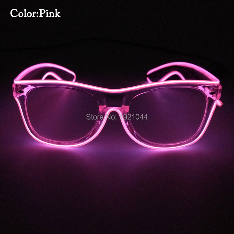 Голос Управление водитель EL Провода мигающий прозрачного Рамки Очки яркий свет партия флуоресценции Очки для событие для вечеринок