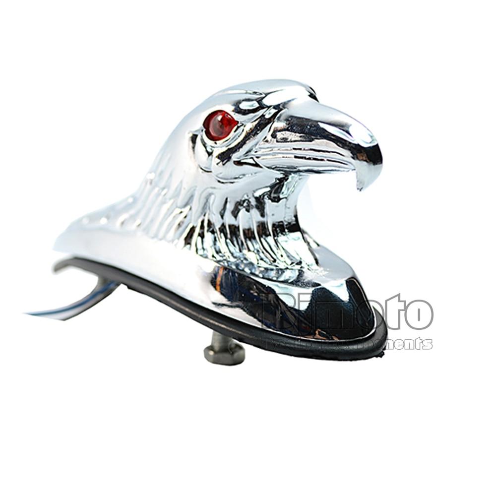 Motorrad Rot Beleuchtete Augen Chrome Adler Kopf Ornament Statue für ...