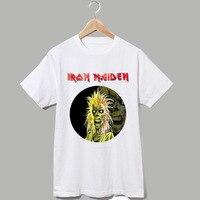 IRON MAIDEN The Final Frontier Skull Logo Printing Good Quality Unisex Tee Shirt