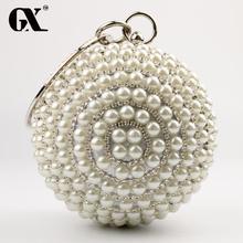 GX 2016 Amerikanischen Laydis Luxus Abendtaschen Ball Perle Verzierte Abendessen Taschen Tag Erfasst Damen Kleid Bohrer Halten Partei Taschen