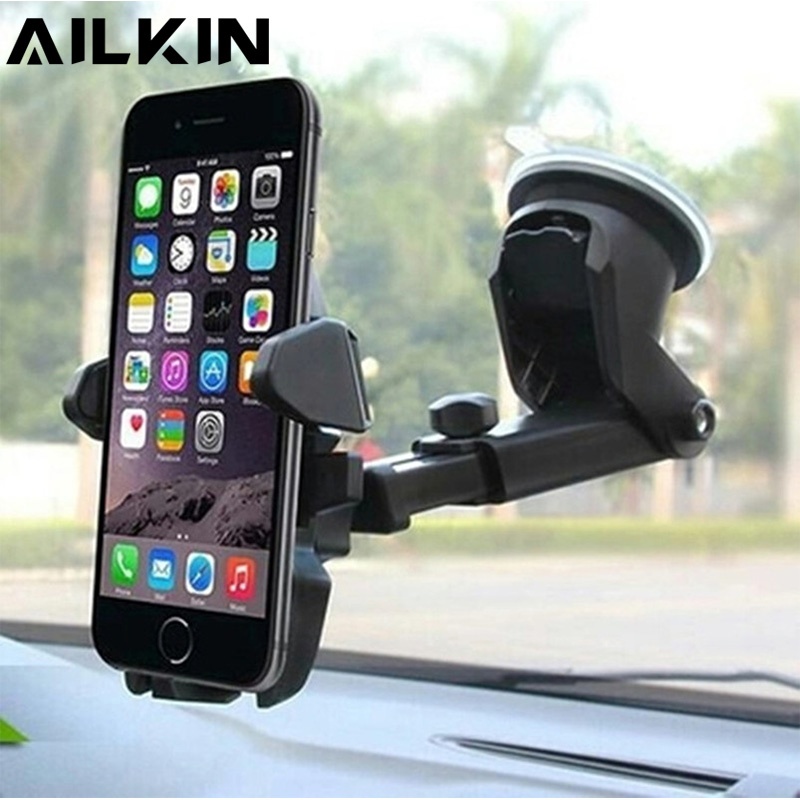 Car Phone Holder Stand For iPhone samsung Universal 360 Degree Rotate GPS Holder Stand for Phone in car Holder for Mobile Phone