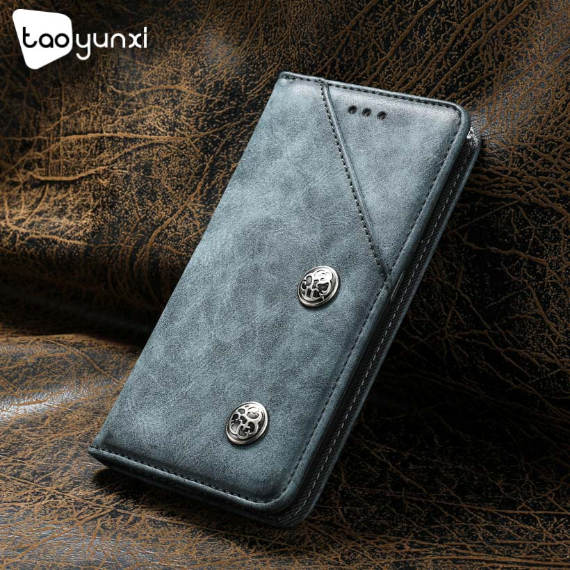 TAOYUNXI Flip Cases For <font><b>ASUS</b></font> Zenfone MAX ZC550kl Case For <font><b>ASUS</b></font> Z010DD <font><b>Z010D</b></font> ZC550KL Z010DA Cover Silicone Retro Flip Leather image