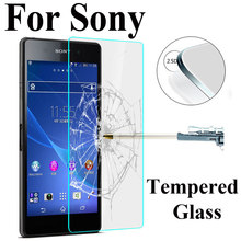 Screen Protector HD Toughened for Sony Xperia Z1 Z2 Z3 Z5 Compact M2 M4 M5 C3 C4 Protective Film Premium Tempered Glass(China)