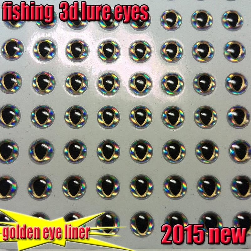 2015new fishing 3d lure eyes golden eye liner fish eyes size:4mm,5mm6mm7mm8mm quantity:200pcs/lot