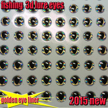 2015new fishing 3d lure eyes golden eye liner fish eyes size