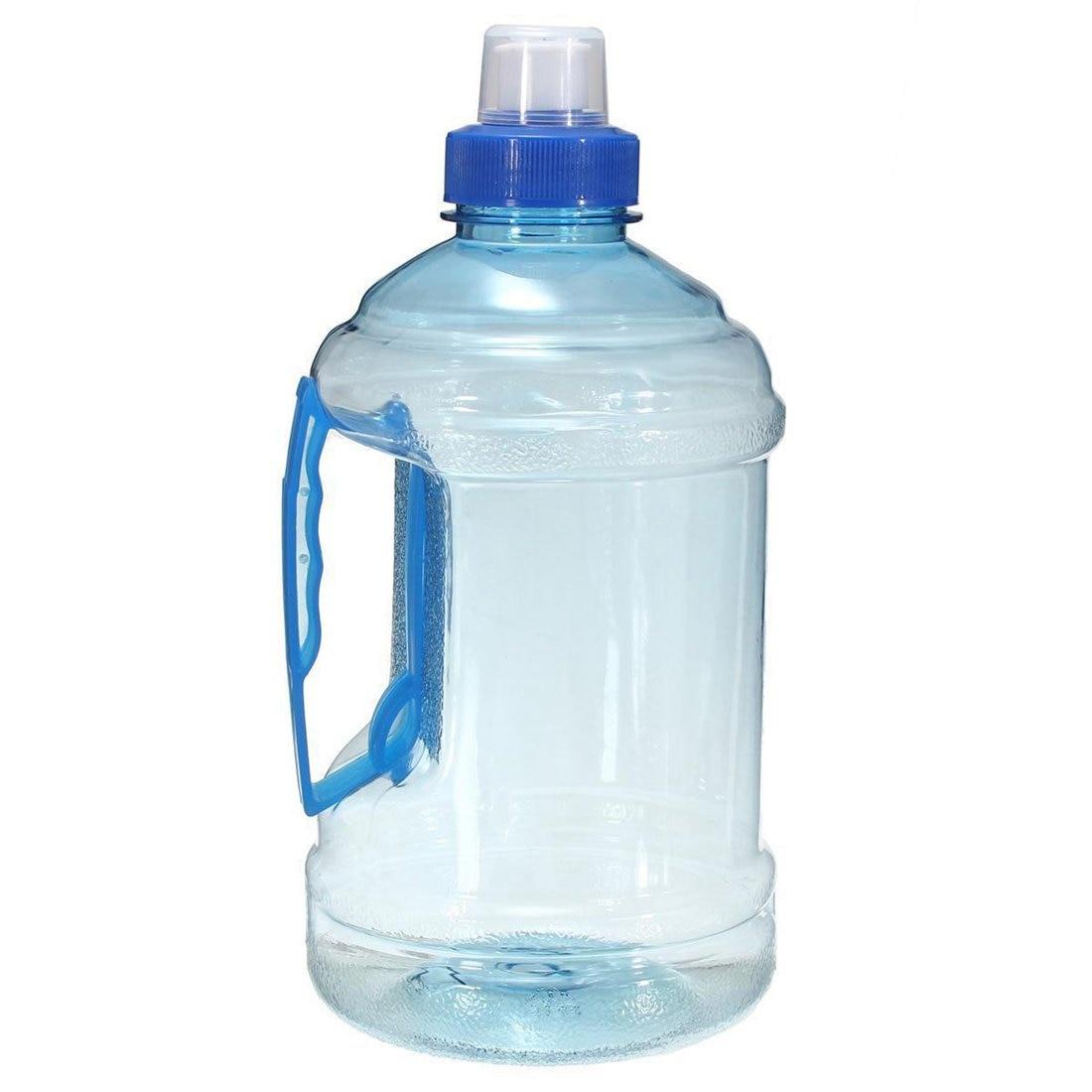 1L Big Large BPA Free Sport Gym Training Party Drink Water Bottle Cap Kettle Color:Blue Capacity:1 L