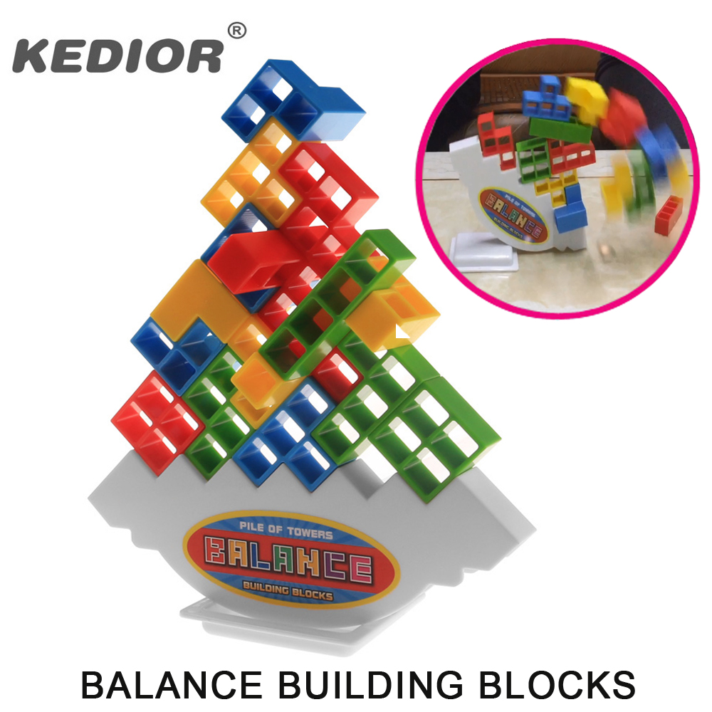 New Balance Toy Building Blocks Children Early Educational Toys Montessori Clown Training Balancing Fidget Toys Kids Game Gift pizza balance game pile up balancing desktop toy pretend play food small family plastic building blocks toys for children