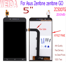 WEIDA For Asus Zenfone zenfone GO ZC500TG Z00VD LCD Screen Display Touch Digitizer Assembly Replacement+ Tool Z00VD ZC500TG LCD цена