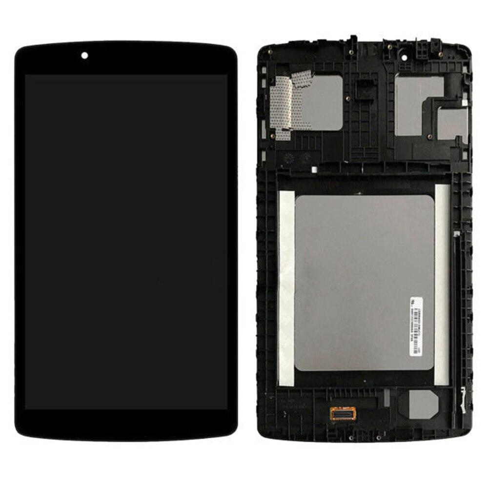 Original pour LG G Pad 8.0 LG V490 V480 matrice LCD affichage écran tactile numériseur capteur tablette de remplacement assemblée avec cadre