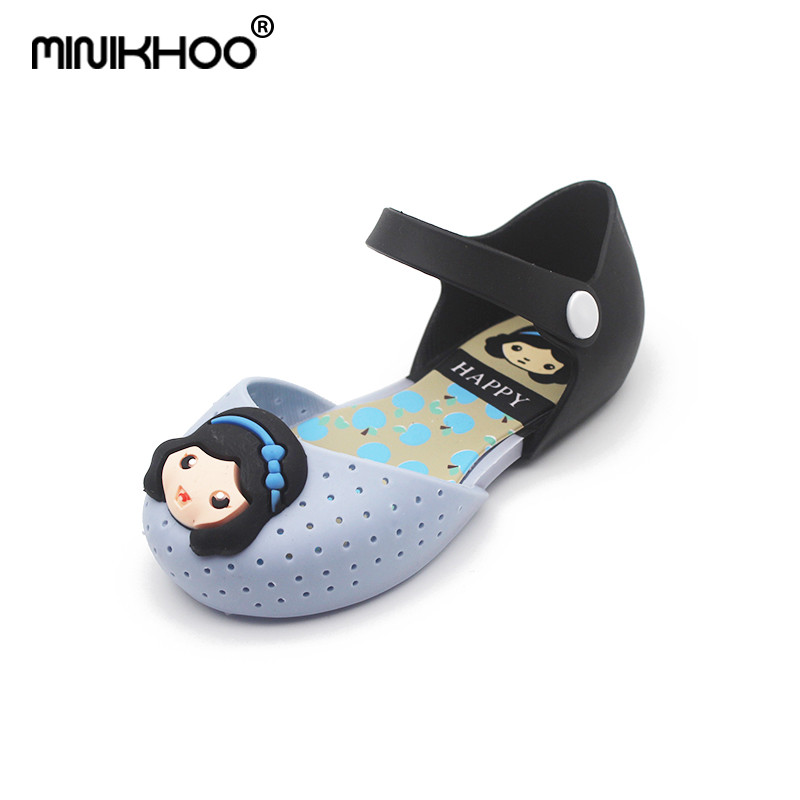 Mini Melissa 2018 New Princess Sandals Girls Princess Shoes Childrens Sandals Anti-Skid Mini Melissa Shoes Kids High Quality