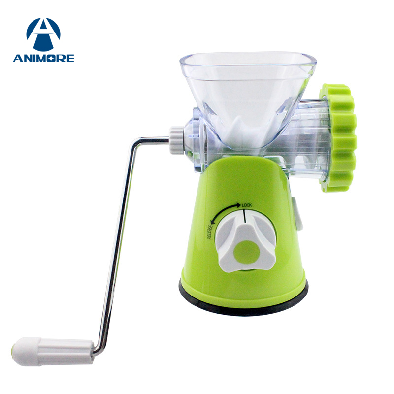 ANIMORE Manual Meat Grinder Household Multifunction Meat Mincer Stainless Steel Blade Home Machine Mincer Sausage Machine FP-06 no 5 small household manual meat grinder aluminium alloy body with stainless steel blade