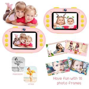 Image 5 - Profesyonel çocuk kamera dijital Wifi SLR Mini kamera noktası dalış Dual Lens 8MP 2.4 inç Full HD darbeye dayanıklı erkek kız kamera
