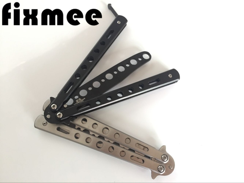 Fixmee Butterfly Knife butterfly training Knife Folding Blade knife Self Defense Knife not sharpened цена и фото