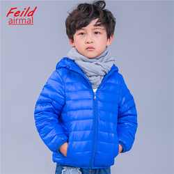 children's clothing Down&Parkas white duck down jacket for girls boys ultra-light fabric Coat autumn winter cap jacket for kids
