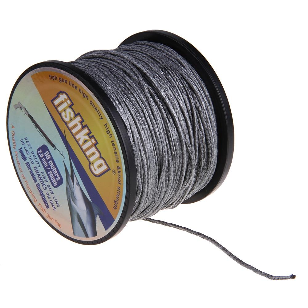 High quality fishking brand 50m 2mm 200kg braided fishing for Fishing line types