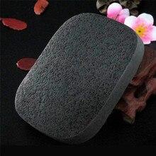 1 шт., мягкая чистая натуральная бархатная губка для макияжа из черного бамбукового угля, косметическая пудра, пуховка для лица, деликатная, без остатков