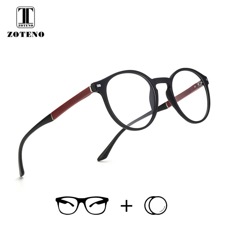 TR90 Round Prescription Glasses Men Vintage Retro Clear Optical Computer Myopia Prescription Spectacles #88003(China)