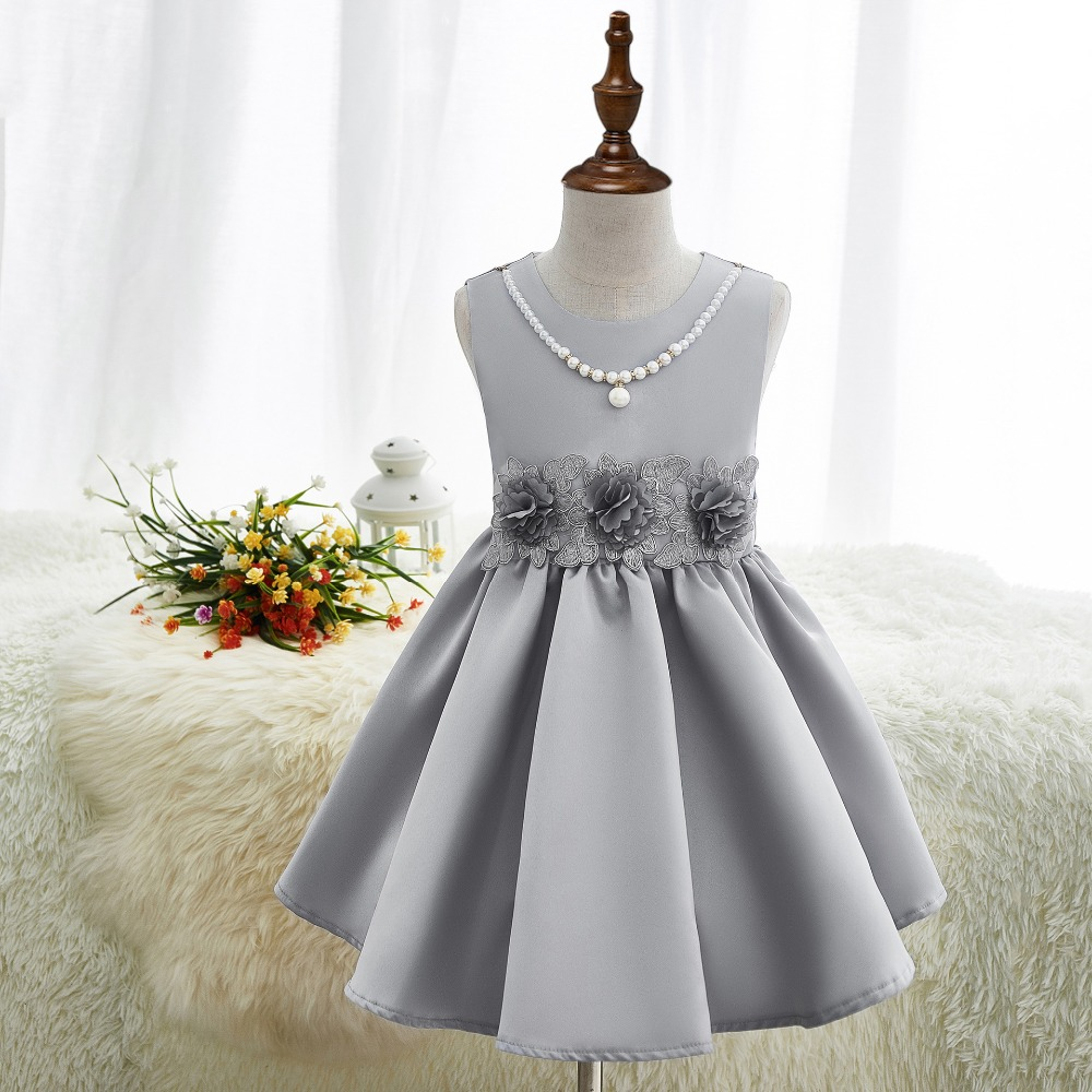 Summer 2017 Party Wedding Girls Dress Brand Girls Clothes Kids Dresses Floral Sleeveless Children Dress Princess Costume 3-12Y new flower girls dress summer kids girl clothing wedding party prom floral dresses sleeveless clothes children princess dress