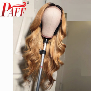 Image 3 - PAFF Ombre #27 Body Wave Glueless Full Lace Human Hair Wigs 130 Density Peruvian Remy Hair Pre Plucked Natural Hairline