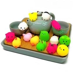 Медленно растет сжимаемые антистресс Kawaii ochi мини животное сжимаемая игрушка Исцеление удовольствие снятие стресса декомпрессия игрушка