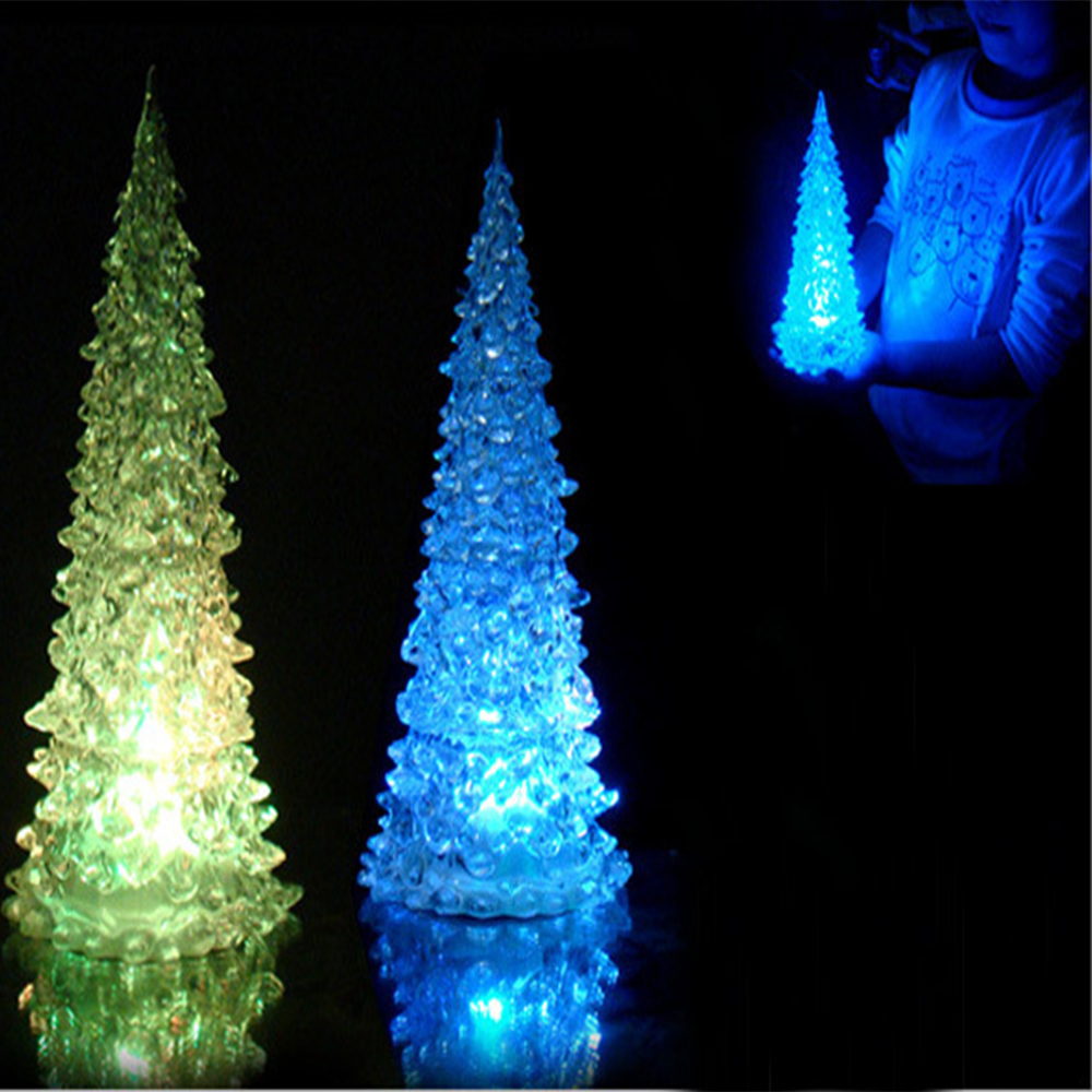 colorful dream crystal tree novelty night light led small night lamp light 7 colors changing acrylic christmas tree light in led night lights from lights - Color Changing Christmas Tree Lights