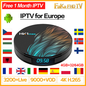 Image 1 - IPTV подписка Европа HK1 Max Smart tv Box Android 9,0 арабский французский IPTV Франция Канада испанско португальский Италия Великобритания Турция IP tv