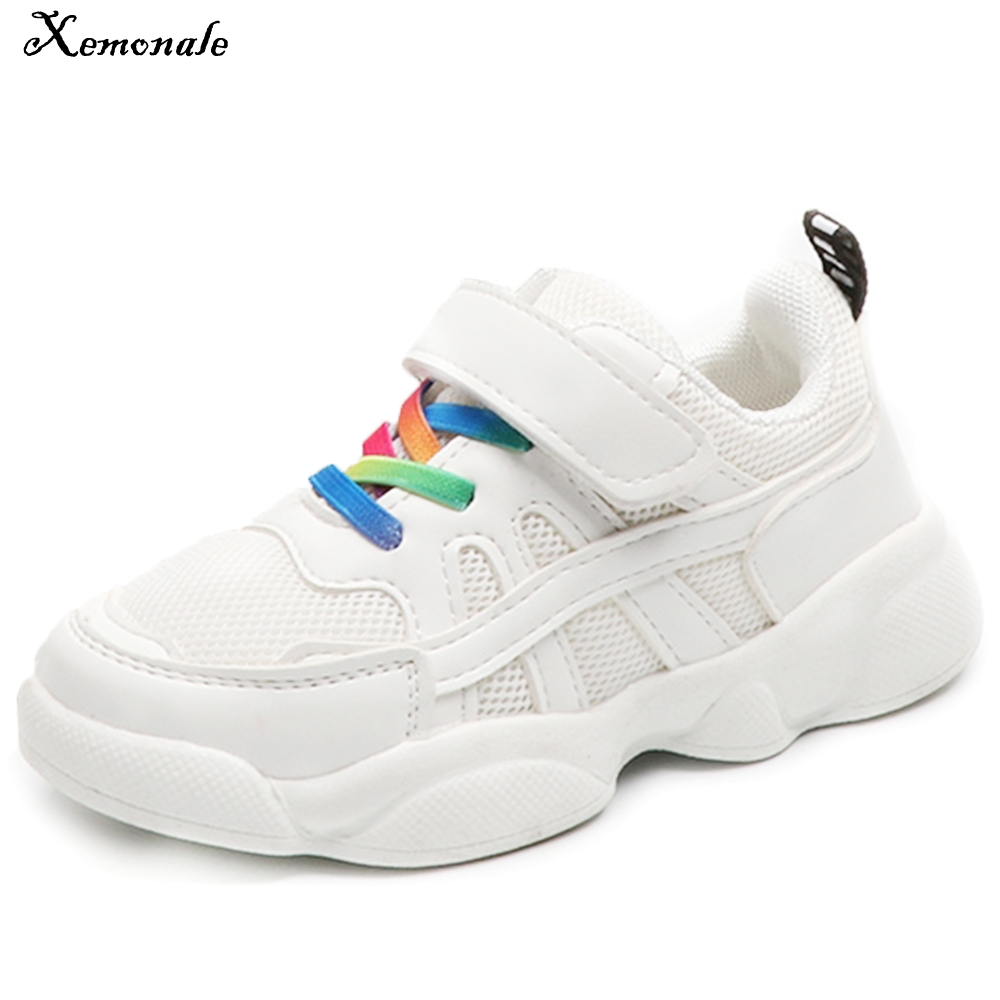Xemonale 2018 New Childrens Leisure Sports Shoes Boys, Breathable Shoes Girls Primary School Childrens Childrens Shoes.