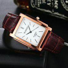 Для женщин WoMaGe классический квадратный Форма рисунок PU ремешок для часов наручные кварцевые часы Для женщин Часы Relogio feminino Montre Femme hv5n