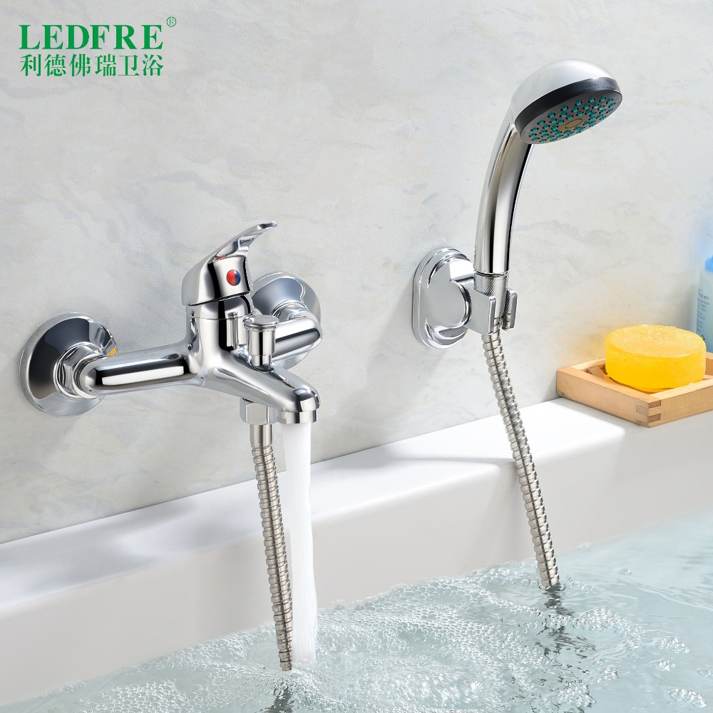 LF56A120 single level Bath mixer water tap bathroom single handle cold and hot water hot cold tap bathroom mixer Bathtub Faucets