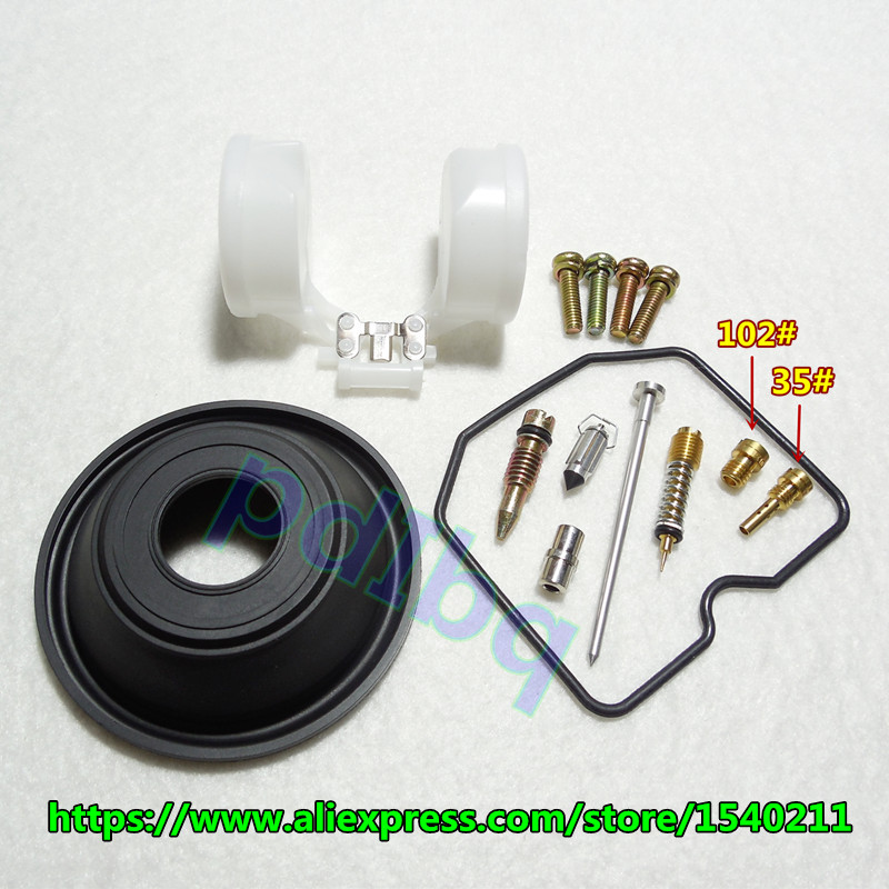(1 set $12.5) Kawasaki GPz 400R ZX400 Keihin carburateur kit de réparation Configurer vide à membrane et flotteur