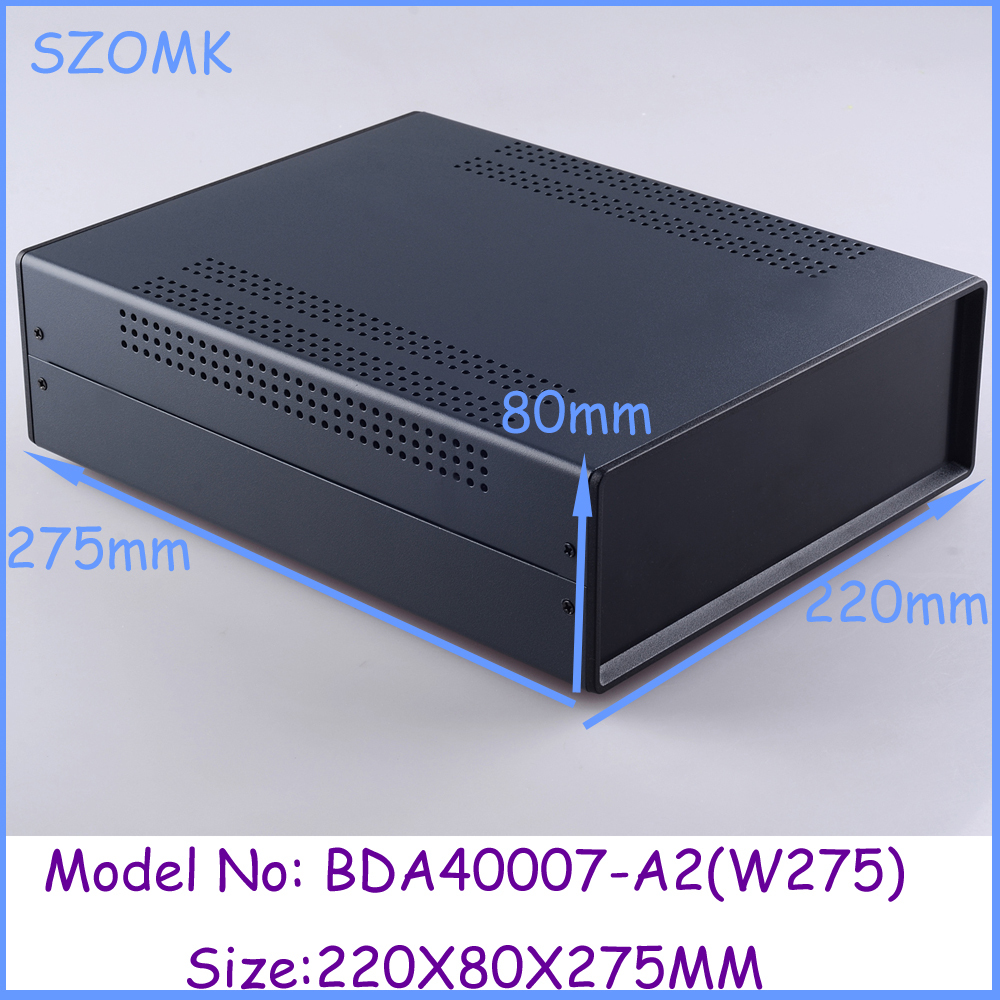 (1pcs)80x220x275mm industrial case electronics enclosure diy iron box for electronics box enclosures electronic metal box 1 220x120x195 mm 2014 new electronics metal enclosure box for electronics and pcb instrument box industrial enclosures
