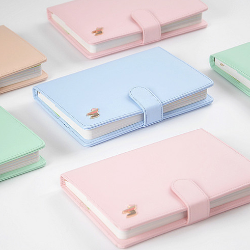 MR.BOOK Pony Notebook A5 Plan Color Pages Leather Notepad Diary Korea Cute Gift 1PCS