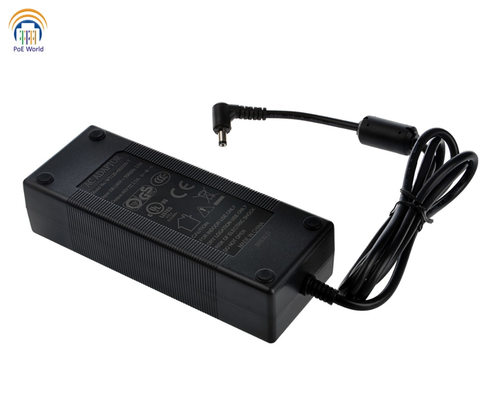 48Volt 120Watt AC adapter Power Supply for PoE injector PoE switch