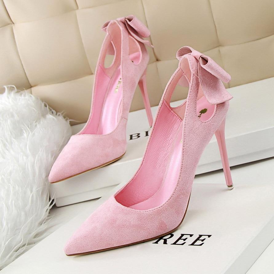 Brown Suede Pumps Shoes