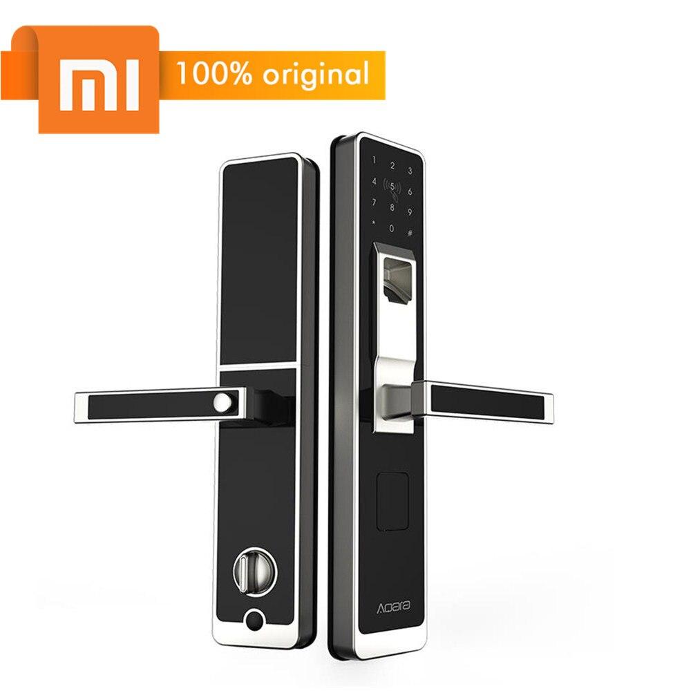 Original Xiao mi Aqara Smart Lock mi toque puerta cerradura electrónica Live huella digital desbloquear contraseña App Control para la seguridad en el hogar